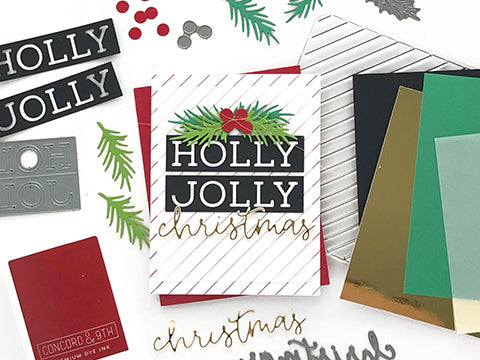 MAKE IT: HOLLY JOLLY CHRISTMAS CARD