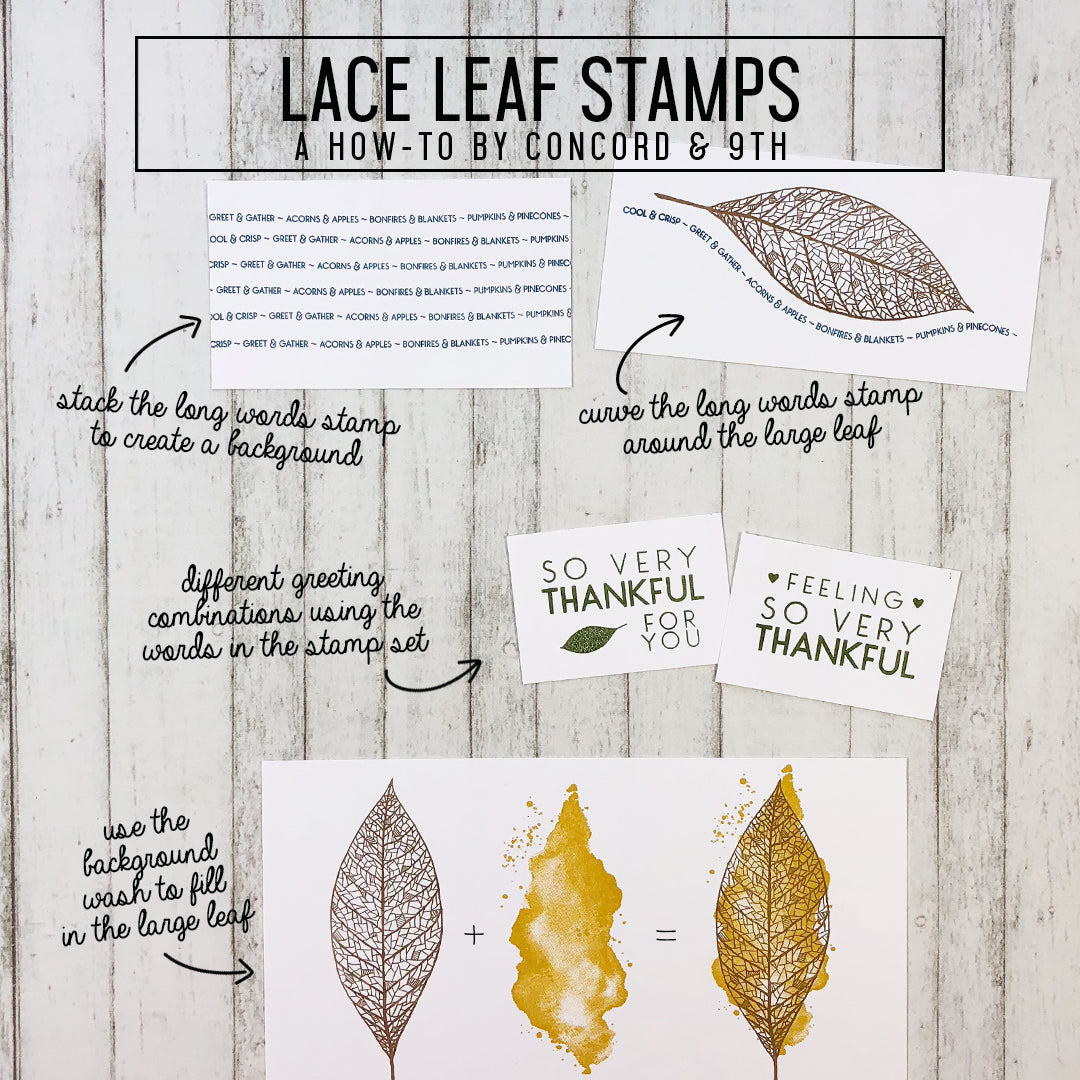 Lace Leaf Stamp Set