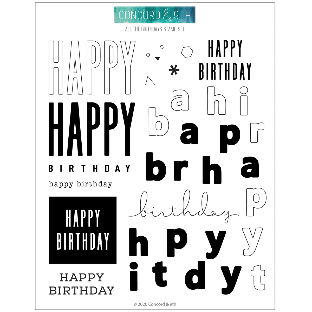 All the Birthdays Stamp Set