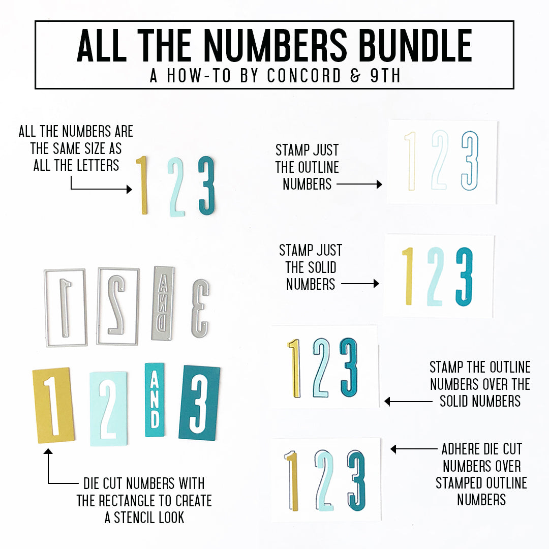 All the Numbers Stamp Set