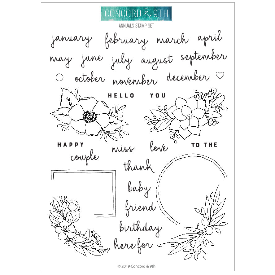 Annuals Stamp Set