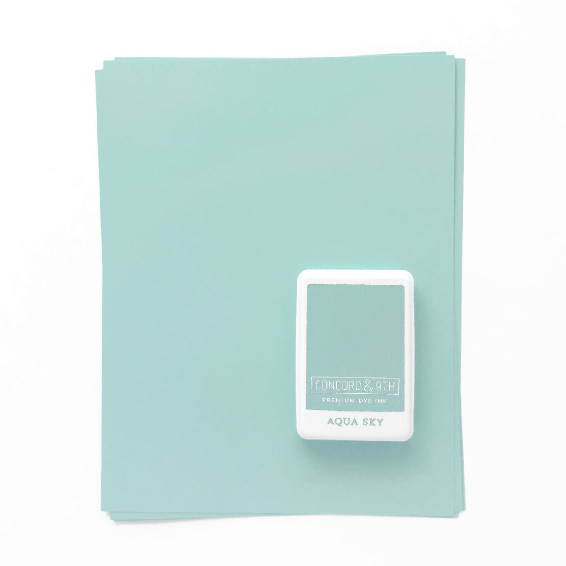 Aqua Sky Ink Pad & Cardstock Bundle