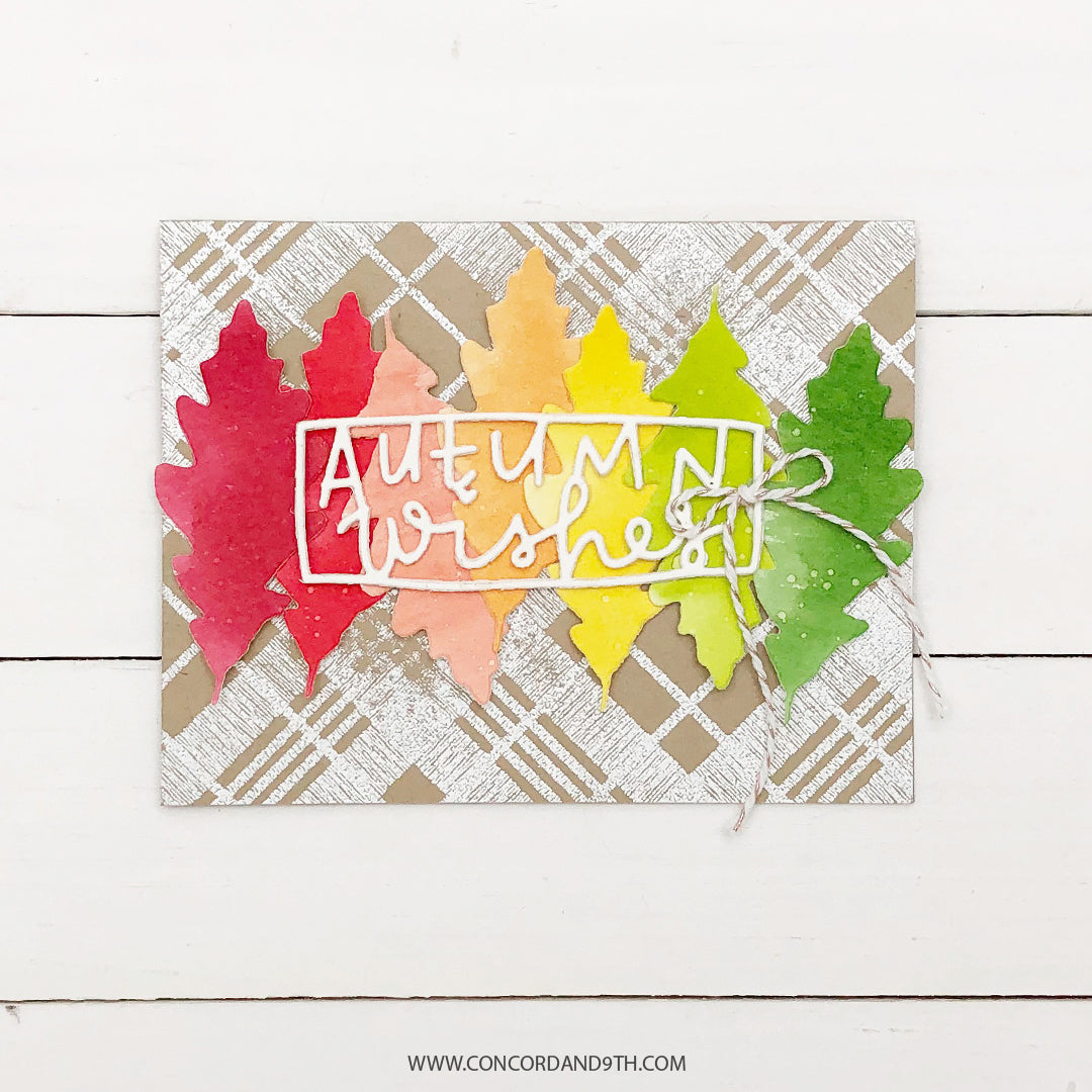Woven Plaid Background Stamp Set