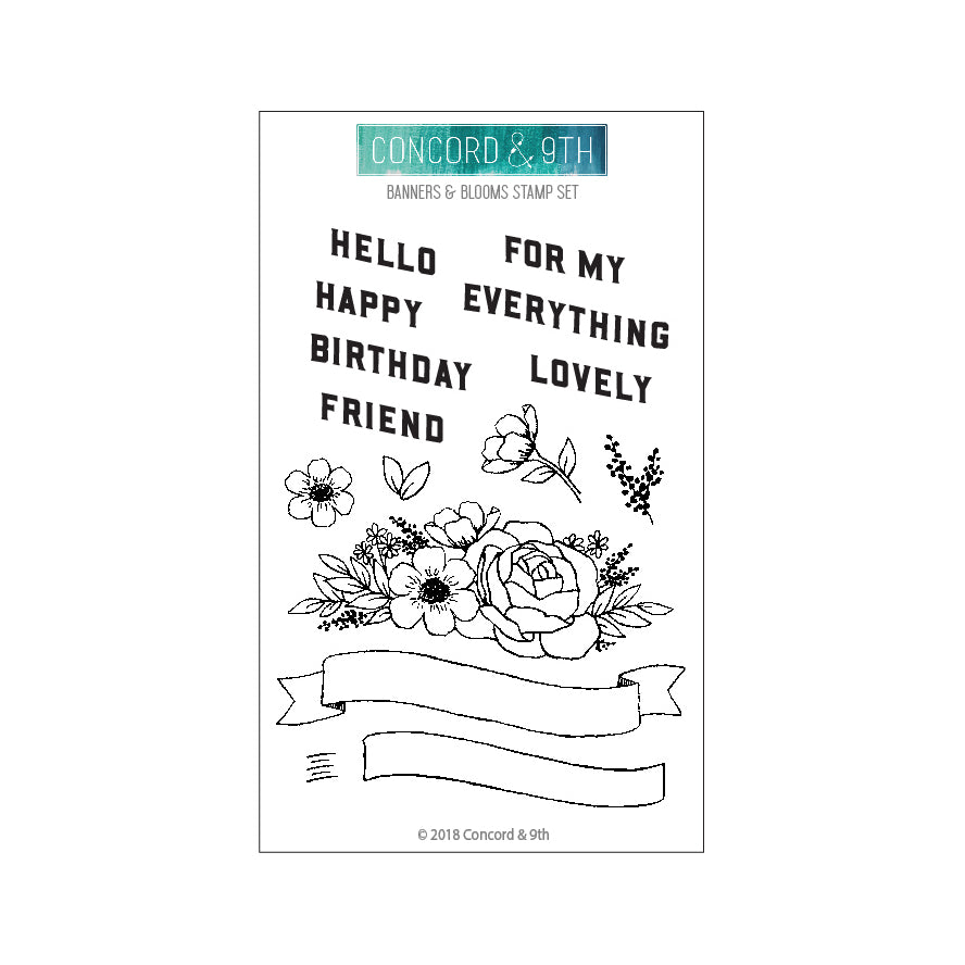 Banners & Blooms Stamp Set