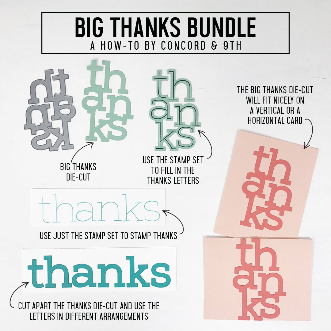 Big Thanks Stamp Set