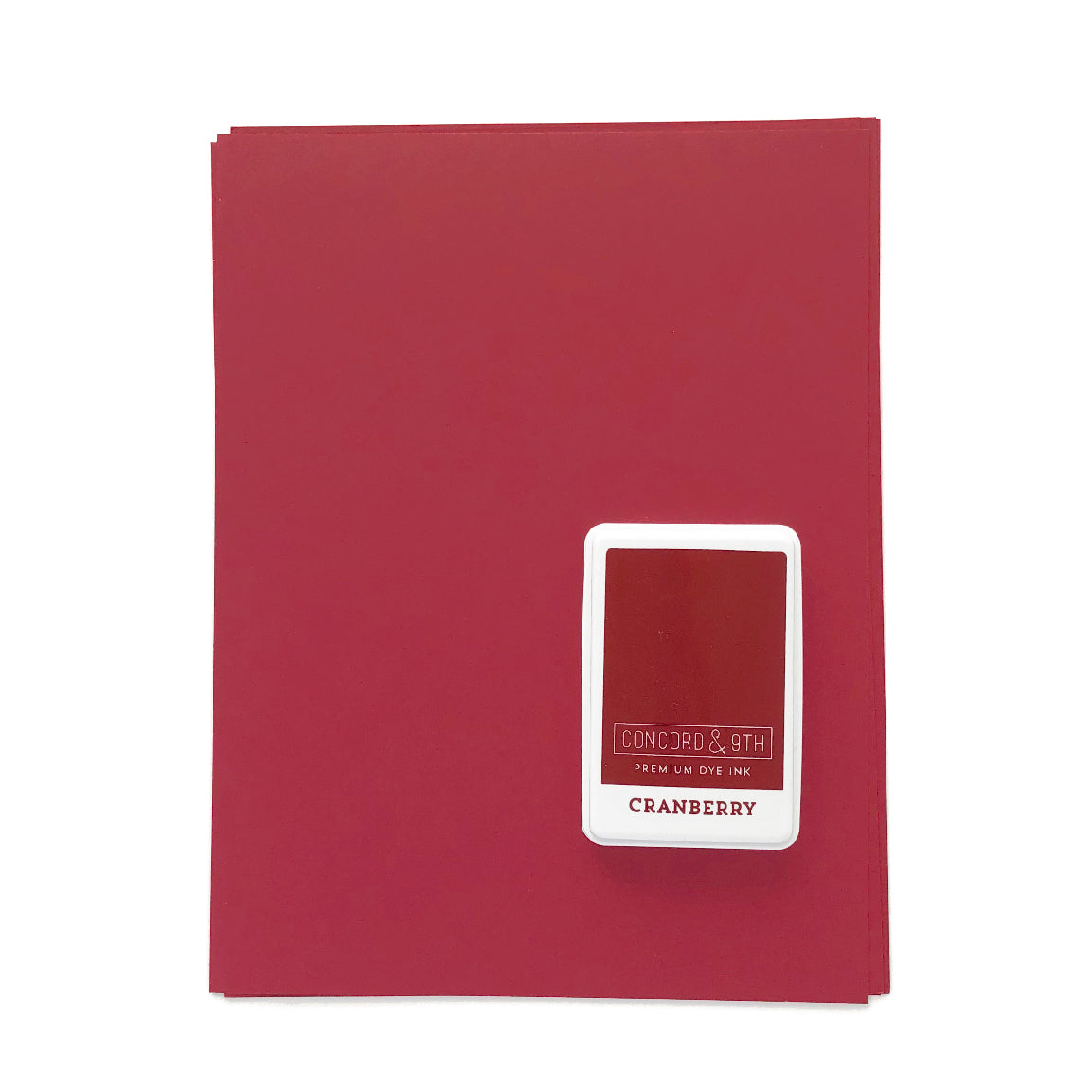 Cranberry Ink Pad & Cardstock Bundle