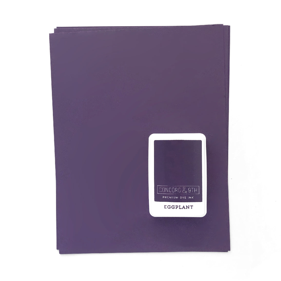 Eggplant Ink Pad & Cardstock Bundle