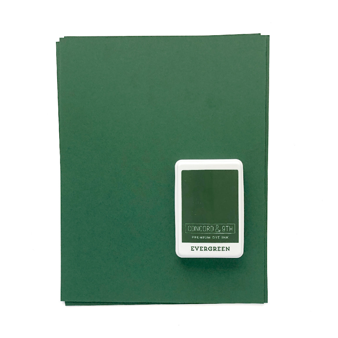 Evergreen Ink Pad & Cardstock Bundle