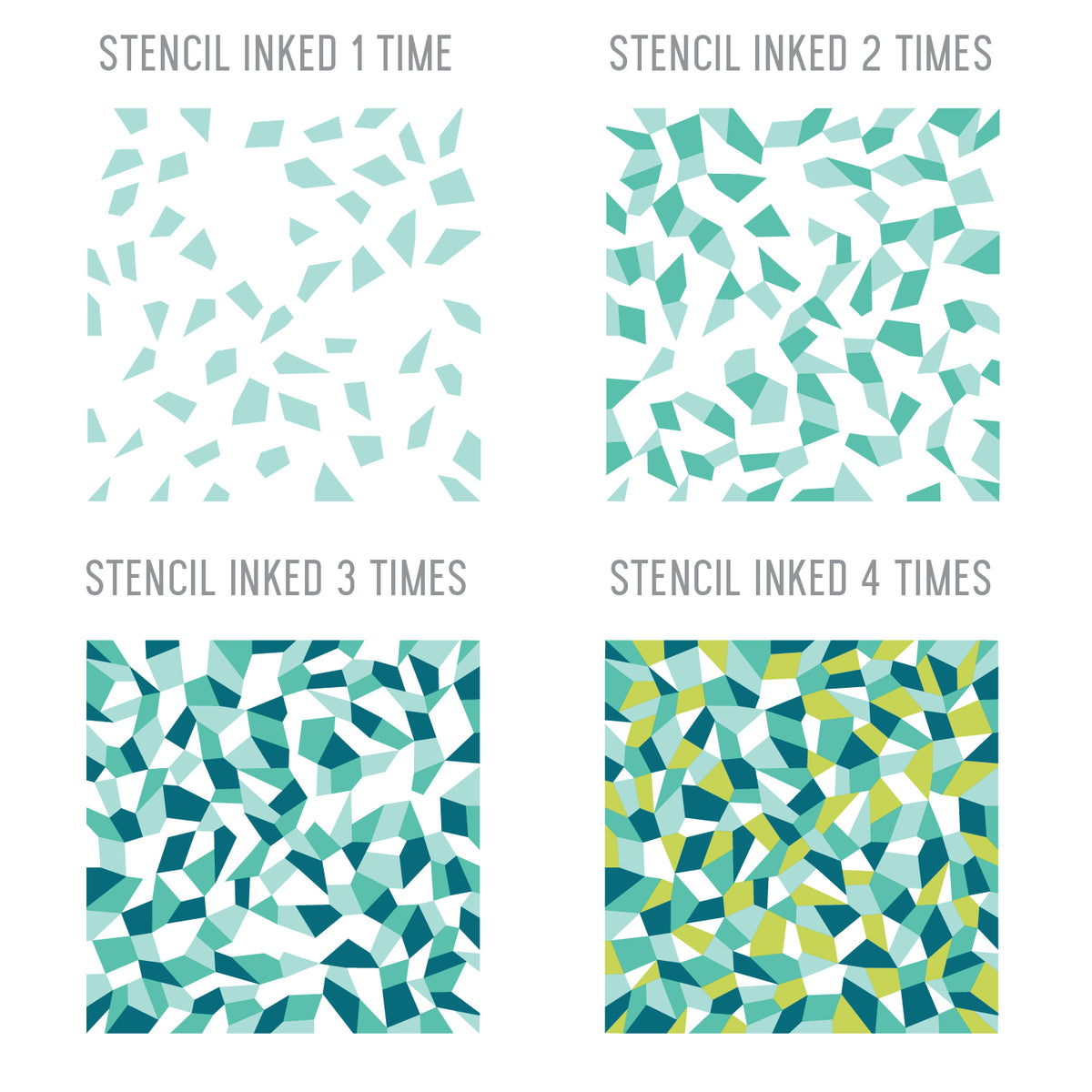 Faceted Turnabout™ Stencil Pack
