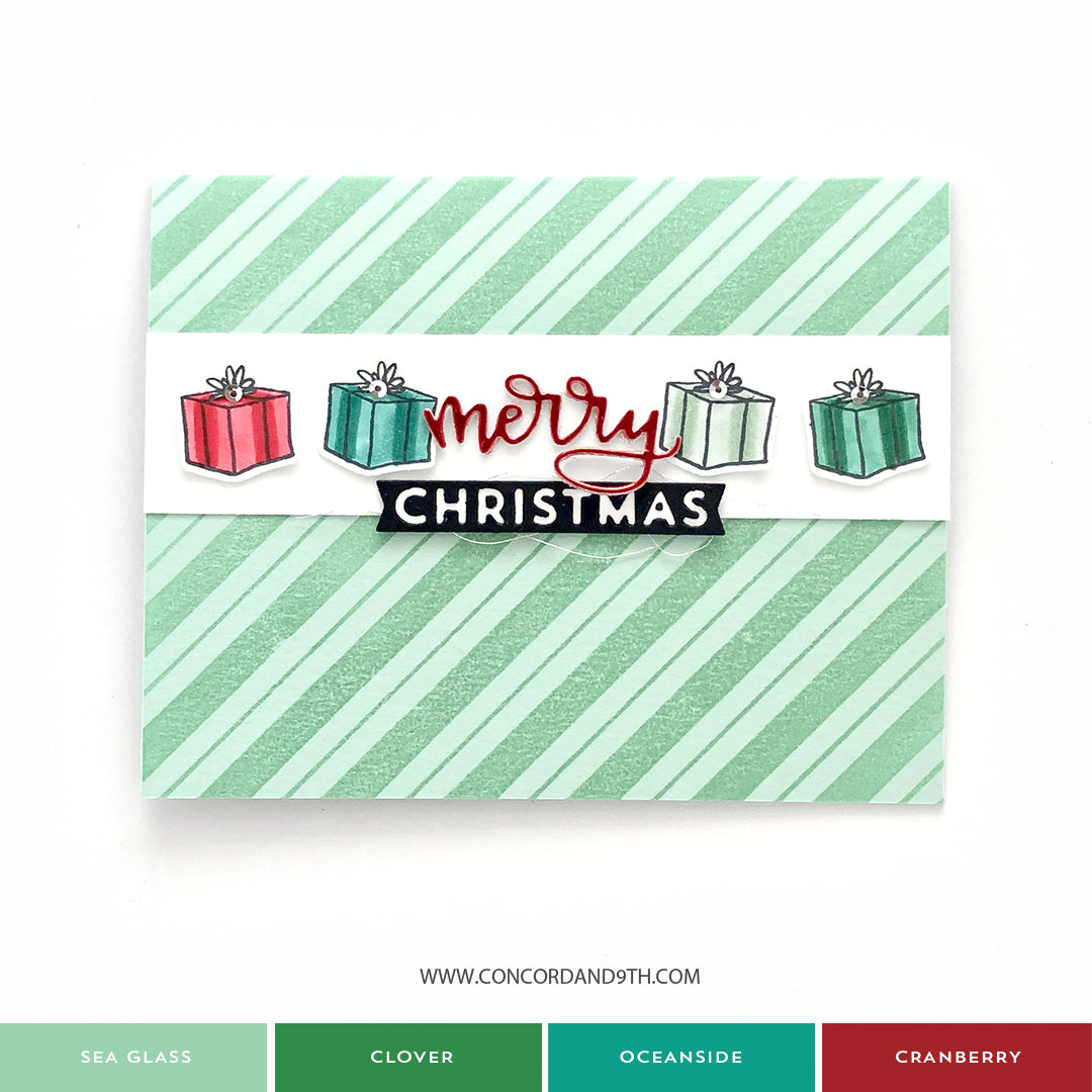 Candy Stripe Background Stamp