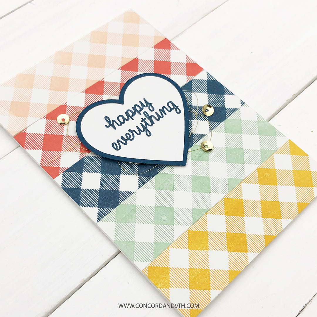 Gingham Background Stamp Set