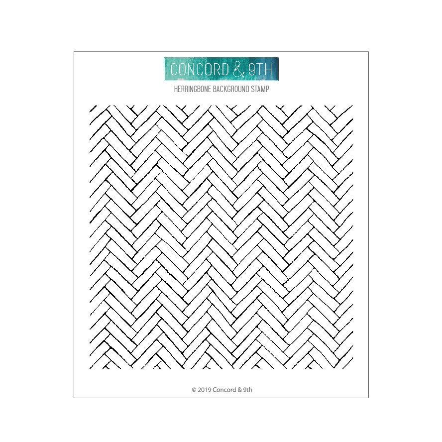 Concord /& 9th Clear Stamps 6X6-Herringbone Background