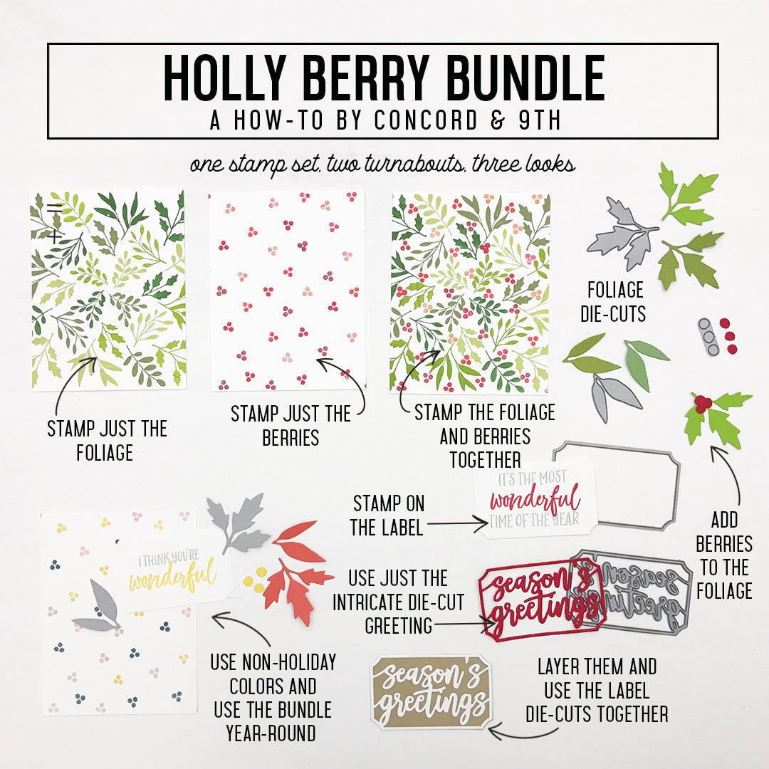 Holly Berry Turnabout™ Stamp Set