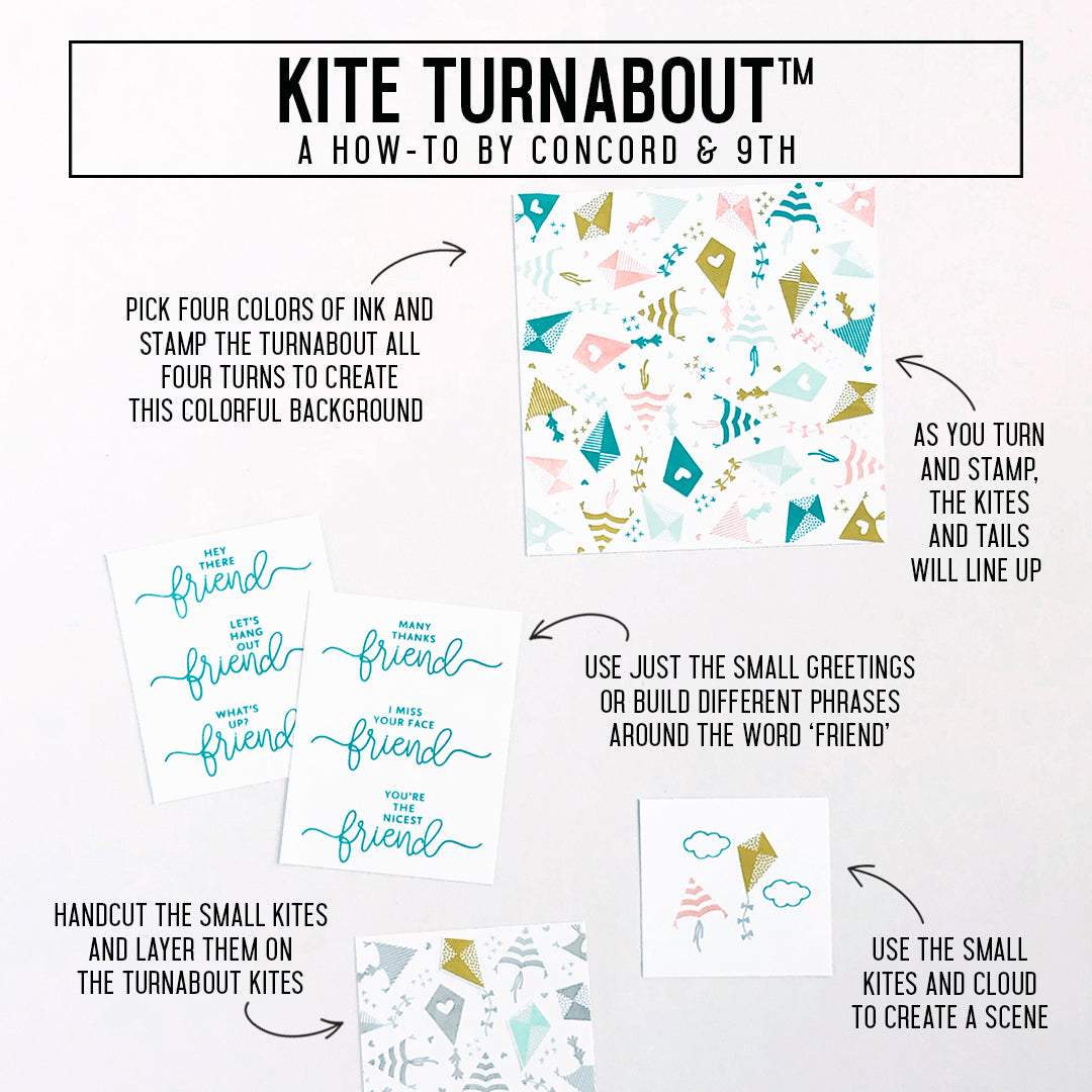 Kite Turnabout™ Stamp Set