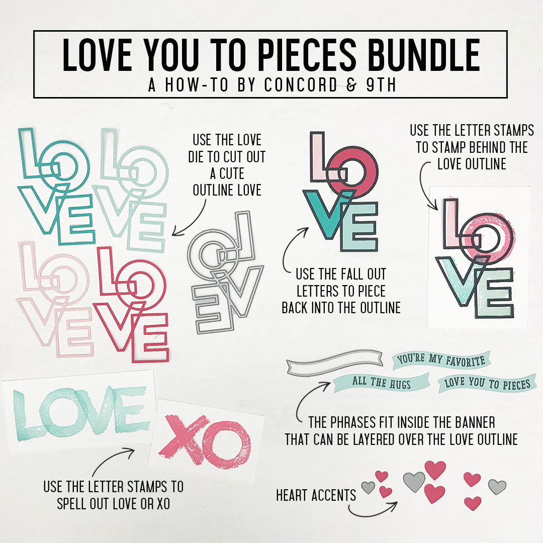 Love You to Pieces Stamp Set