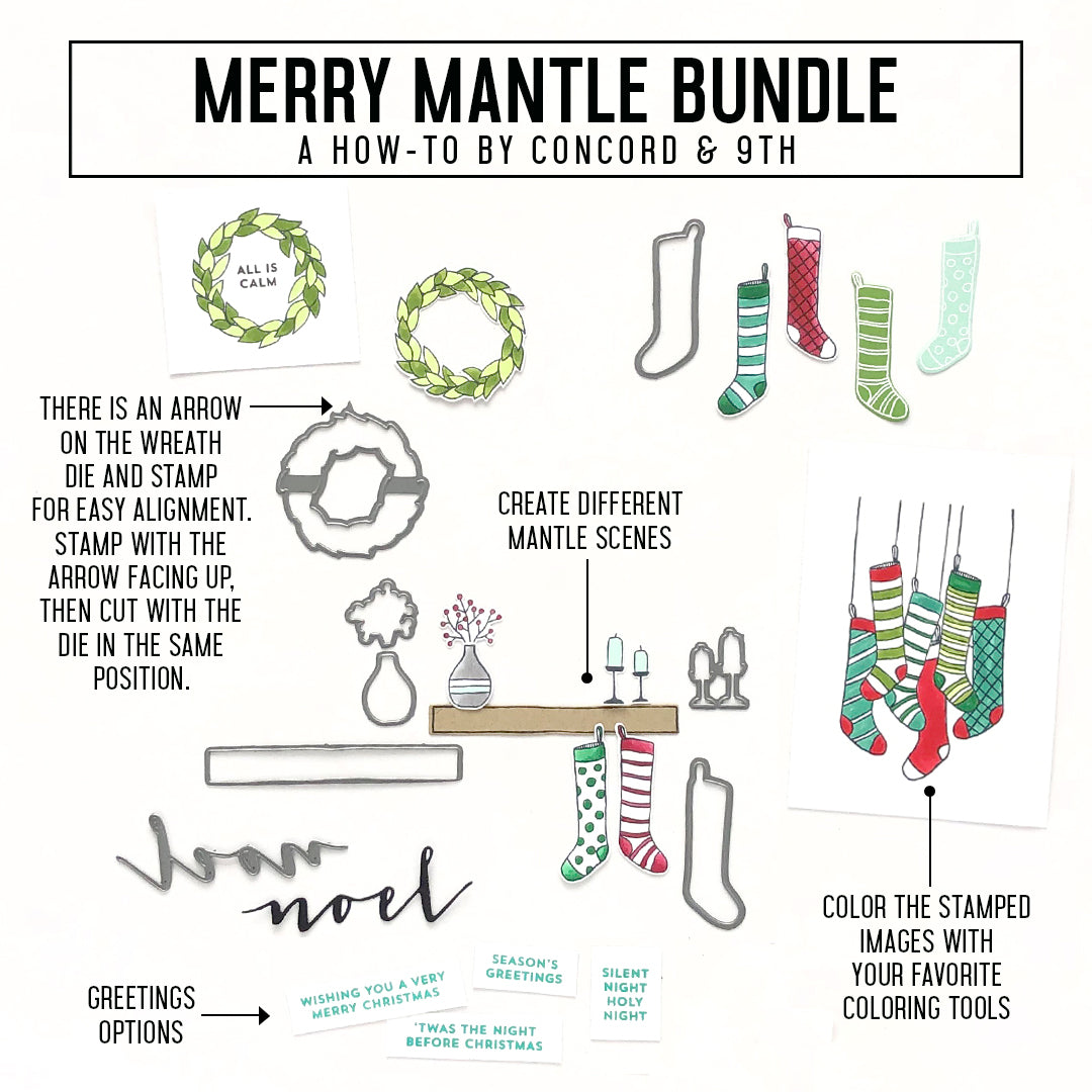 Merry Mantle Stamp Set