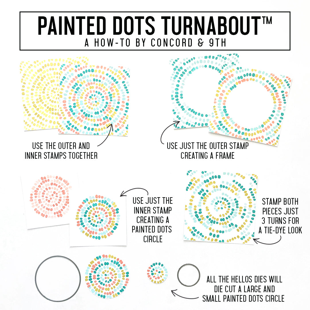 Painted Dots Turnabout™ Stamp
