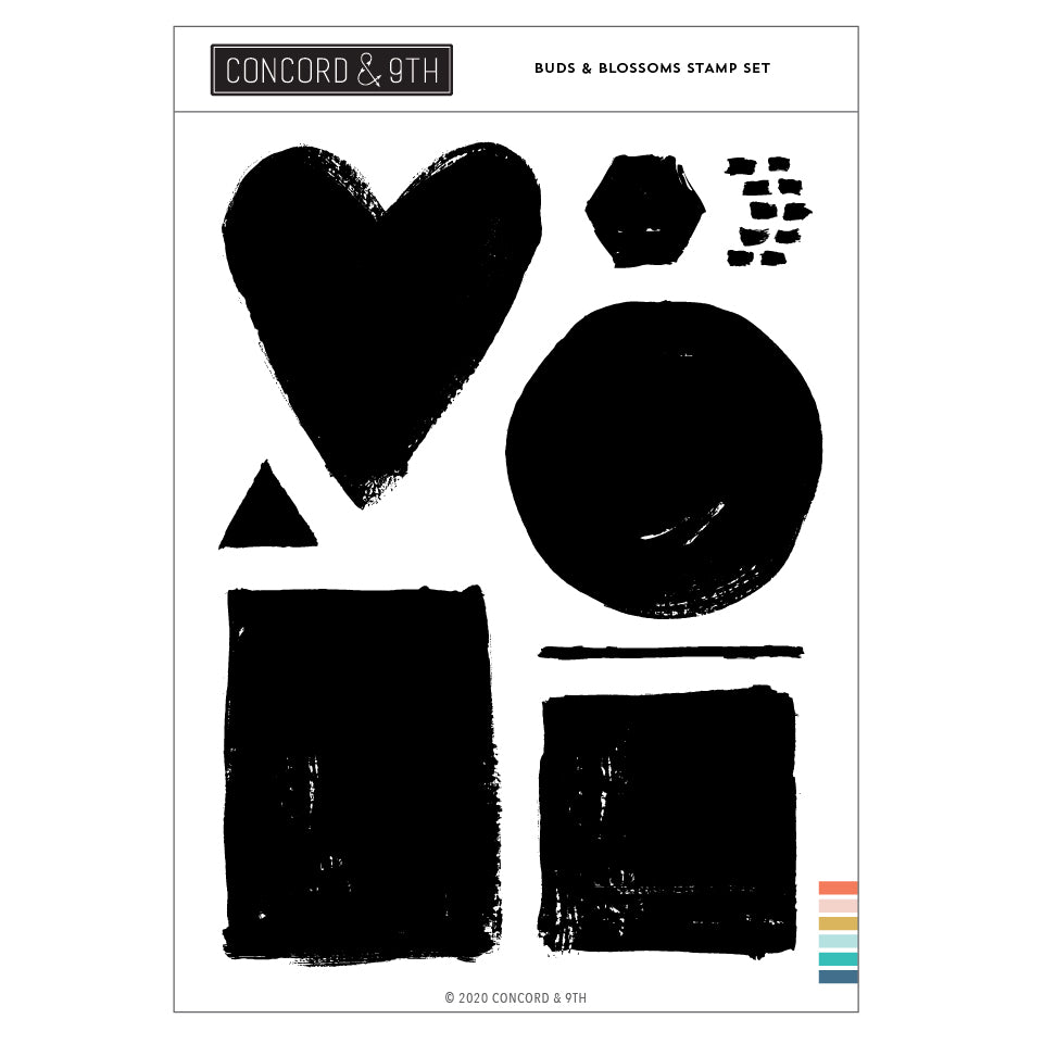 Painted Shapes Stamp Set