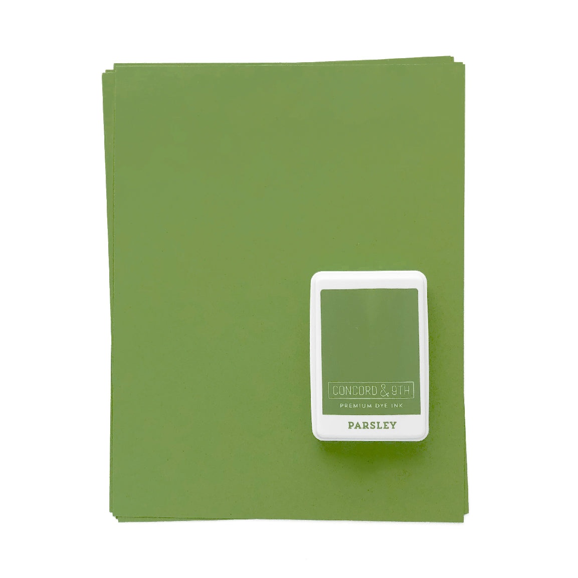 Parsley Ink Pad & Cardstock Bundle