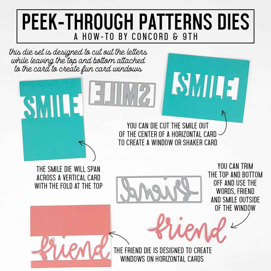 Peek-Through Pattern Dies
