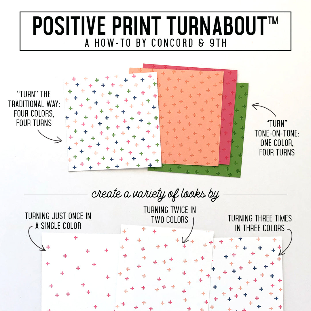 Positive Print Turnabout™ Stamp
