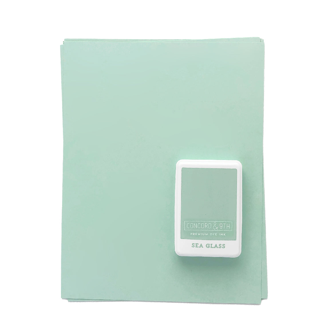 Sea Glass Ink Pad & Cardstock Bundle
