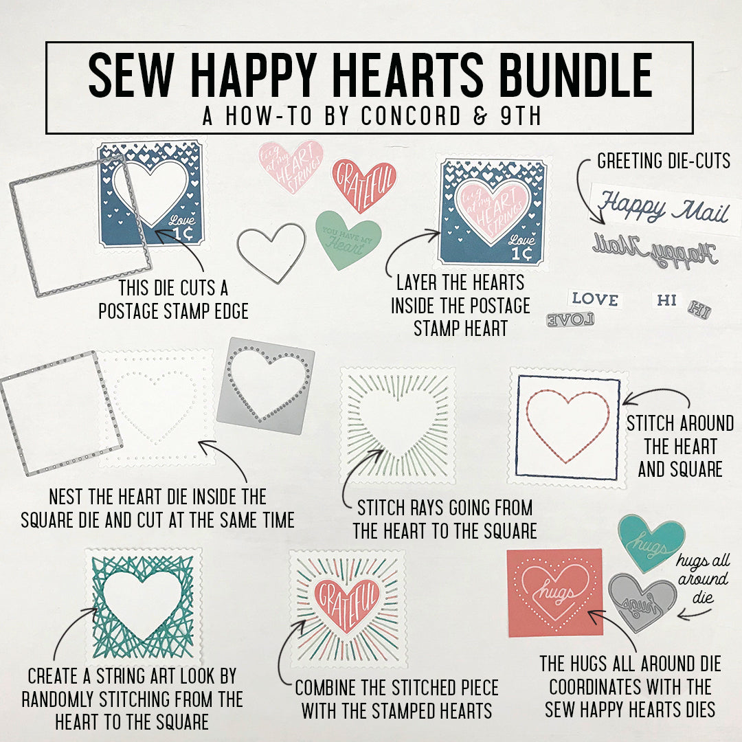 Sew Happy Hearts Dies