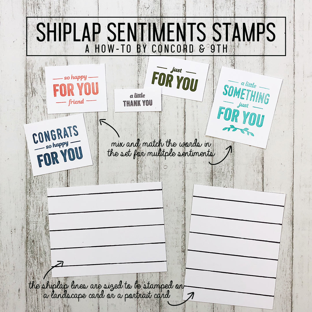 Shiplap Sentiments Stamp Set: LAST CHANCE