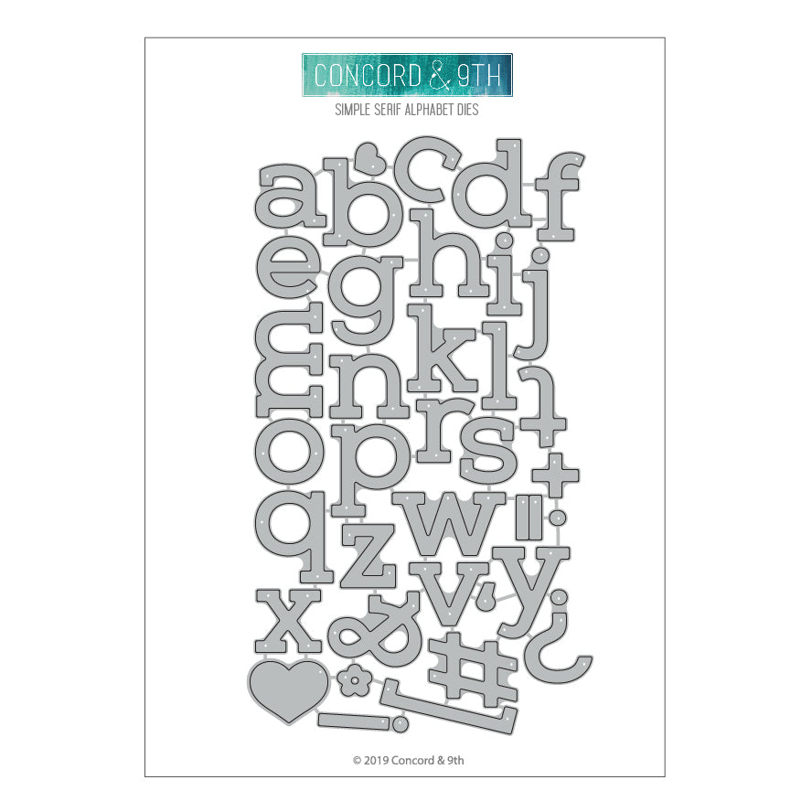 SIMPLE SERIF ALPHABET I - Concord & 9th