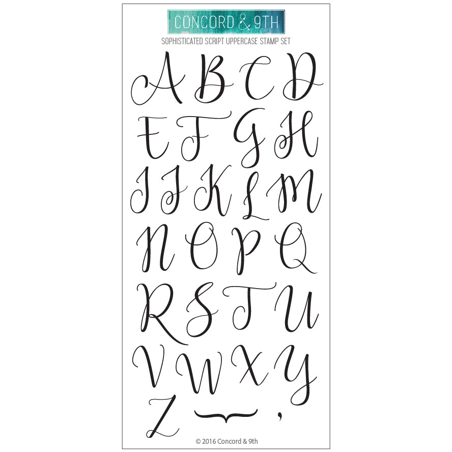 Sophisticated Script Uppercase Stamp Set