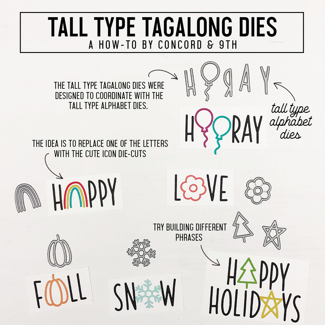 Tall Type Alphabet Dies