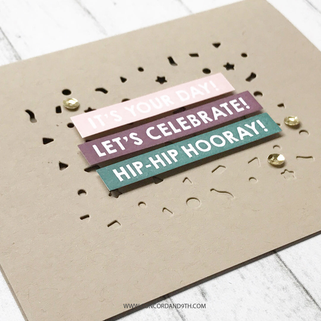Triple-Step Hooray Stamp Set