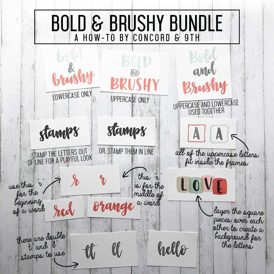 Bold & Brushy Stamp Set