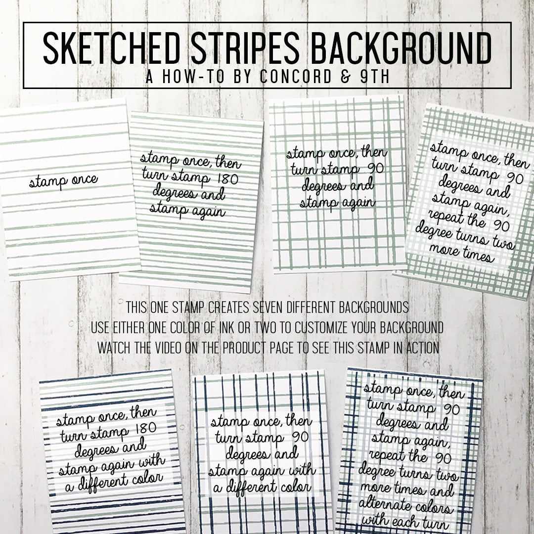 Sketched Stripes Background Stamp