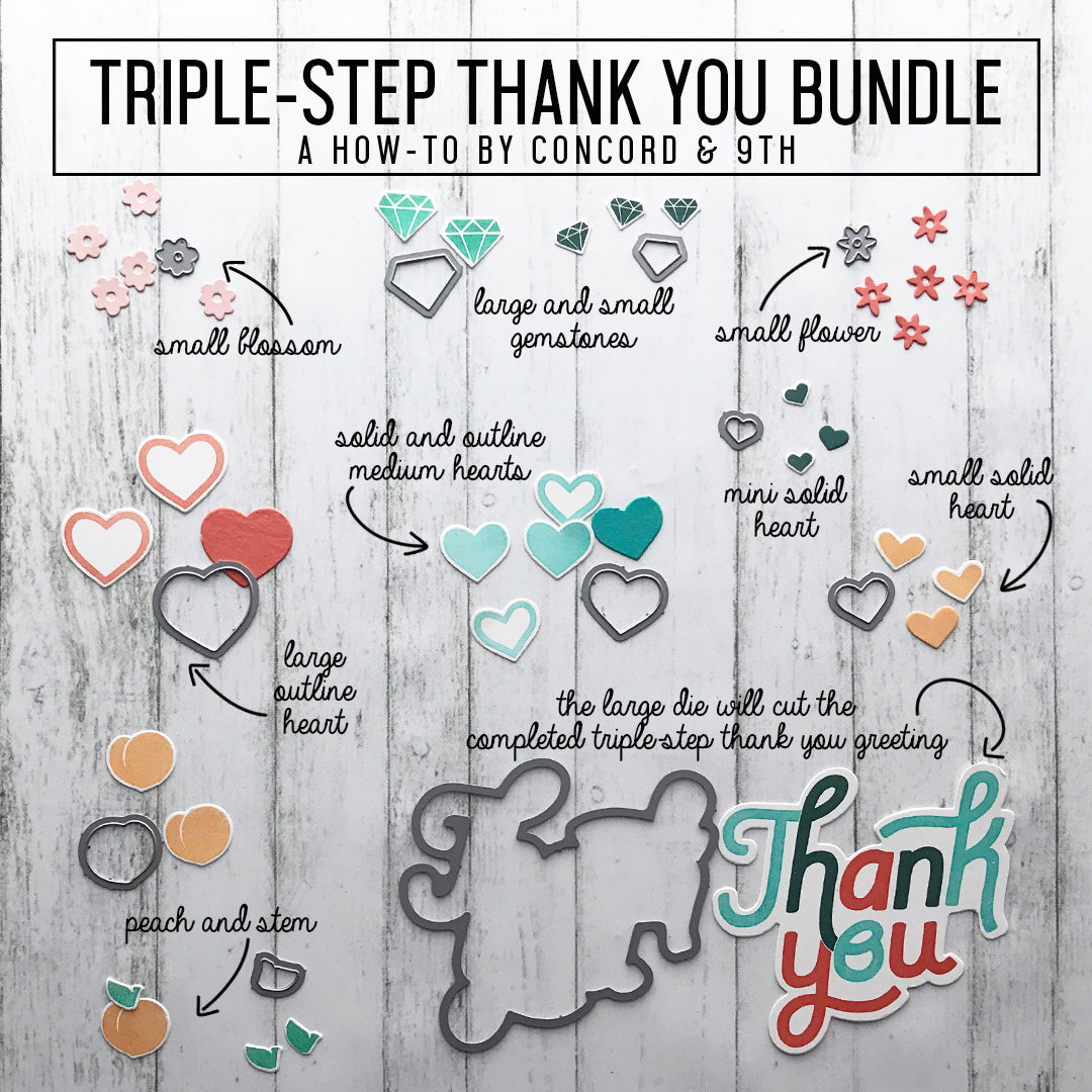Triple-Step Thank You Stamp Set