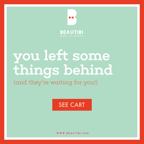 come back to your shopping cart anytime on beautibi's website