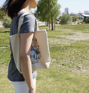 BEAUTIBI Everyday Canvas Tote