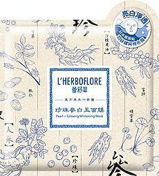 L'HERBOFLORE Pearl and Ginseng Whitening Mask