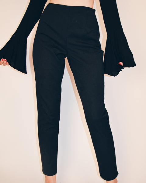 Black Vintage High Waisted Dress Pants (S)