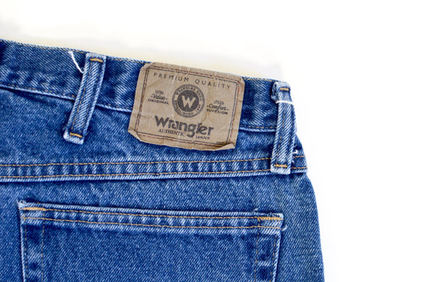 Vintage Wrangler High Waisted Blue Denim Shorts