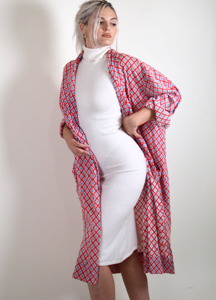 70s Vintage Patterned Robe