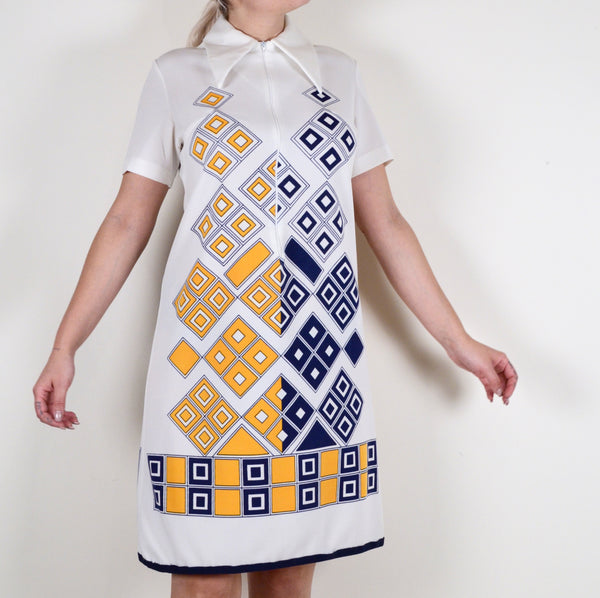 60s Diamond Patterned Dress