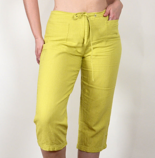 Y2K Yellow-Green Selene Capris