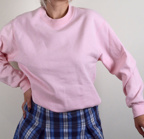 Baby Pink Plain Sweater