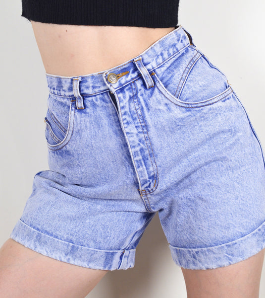 High Waisted Vintage Denim Rio Shorts