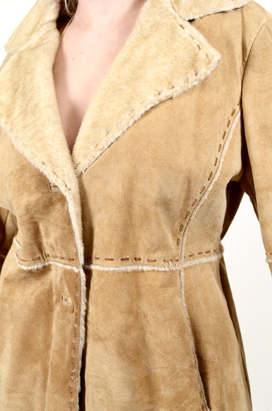 Suede Guess 70s Style Penny Lane Coat X-L