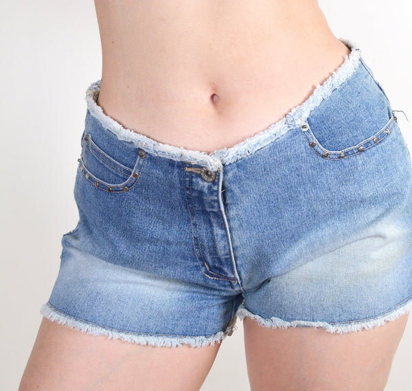 Y2K Studded Denim Shorts