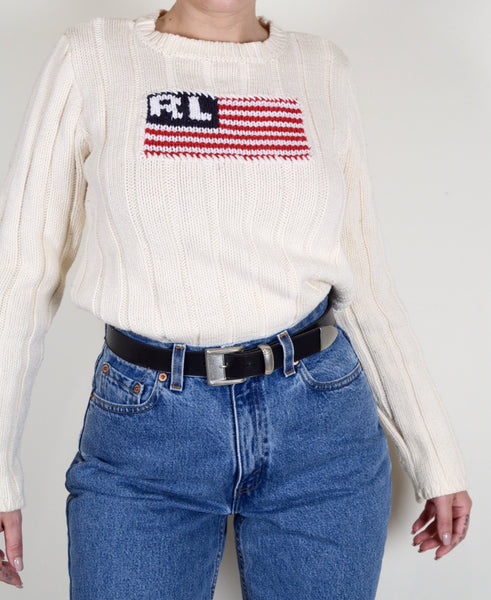 Ralph Lauren Flag Knit Sweater
