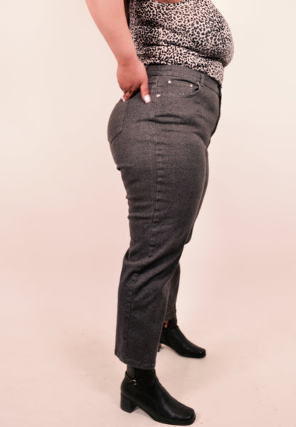 Gray Stretchy High Waisted Jeans (X/L)