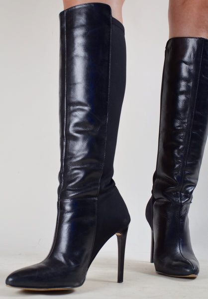 French Connection Black Knee High Boots